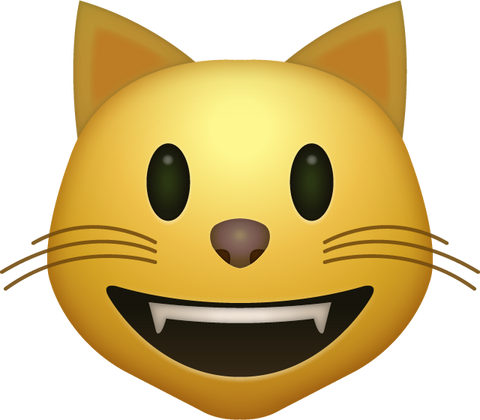 Smiling Cat Emoji Icon