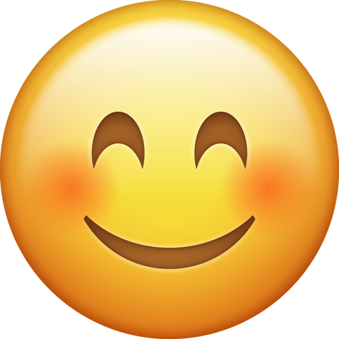 Smiling Emoji [Blushed Smiling iPhone Emoji PNG]