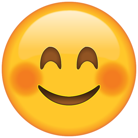 download smiling face emoji with blushed cheeks  Icon