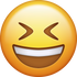 Download Smiling With Closed Eyes Emoji face [Iphone IOS Emojis in PNG]