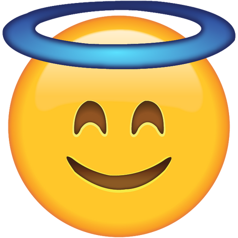 download smiling face with halo Icon