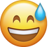 Download Sweat With Smile Iphone Emoji Image
