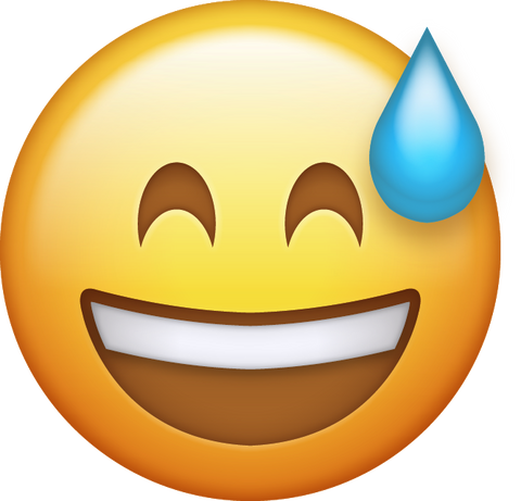 Sweat With Smile Emoji [Free Download IOS Emojis]