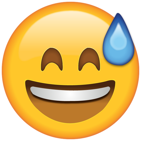 download smiling with sweat emoji Icon