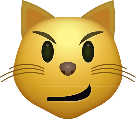 Download Smirk Cat Iphone Emoji Icon in JPG and AI