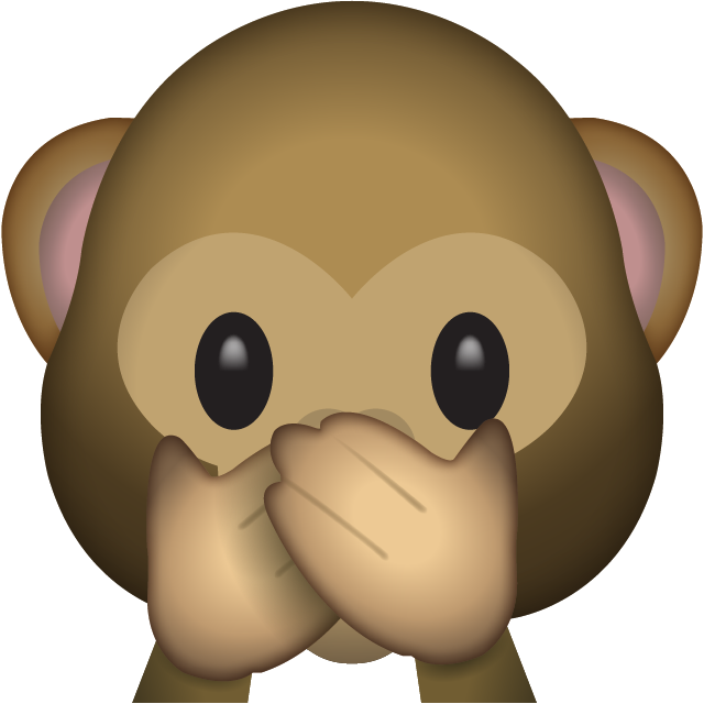 Speak No Evil Monkey Emoji