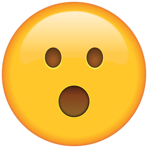 download surprised face emoji icon