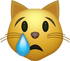 Download Crying Cat Emoji face [Iphone IOS Emojis in PNG]