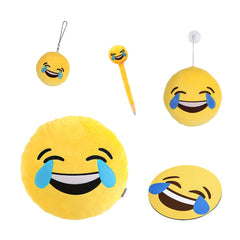 Tears of joy emoji pillow, keychain, plush