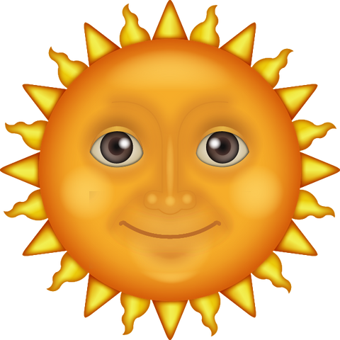 download the sun face emoji Icon