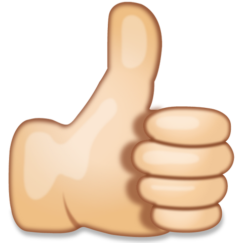 download thumbs up hand sign emoji Icon