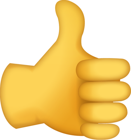 Download Thumbs Up Sign Iphone Emoji Icon in JPG and AI