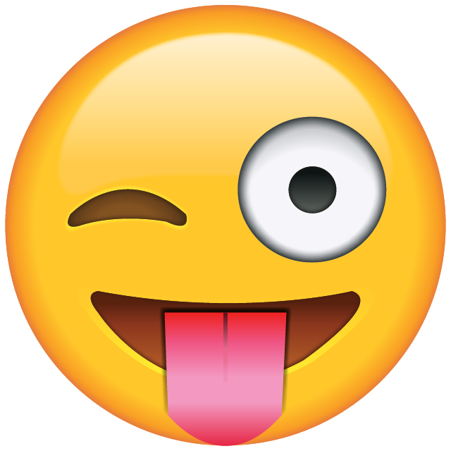 Tongue Out Emoji with Winking Eye