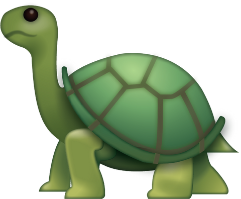 Turtle Emoji [Download iPhone Emoji In PNG]