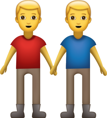 Men Holding Hands Emoji [Download iPhone Emoji]
