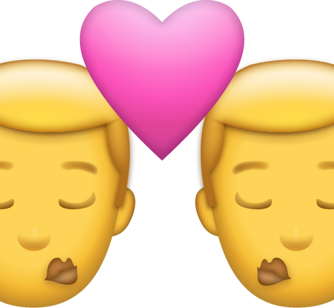 Men Kiss Emoji [Download iPhone Emoji]