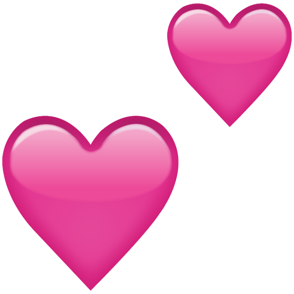 Download Two Pink Hearts Emoji Icon | Emoji Island