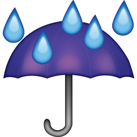 download umbrella rain drops emoji Icon