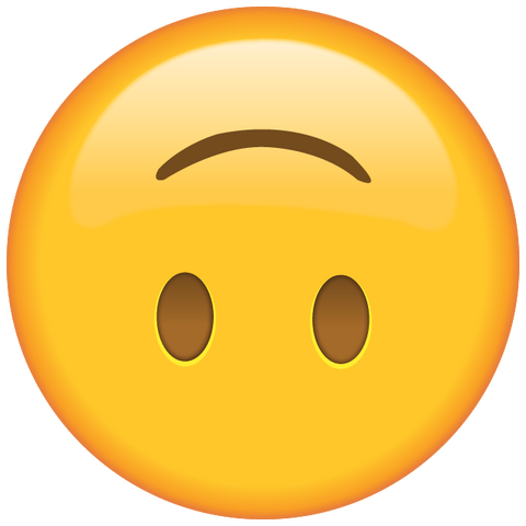 download upside-down face emoji icon
