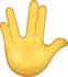 Download Vulcan Salute Iphone Emoji JPG