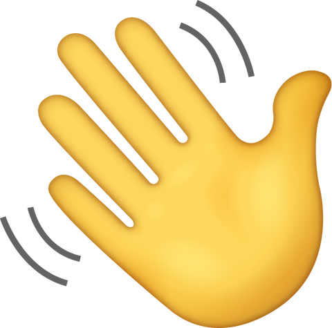 Waving Emoji [Download iPhone Hand Emoji]