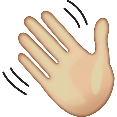 download waving hand sign emoji Icon