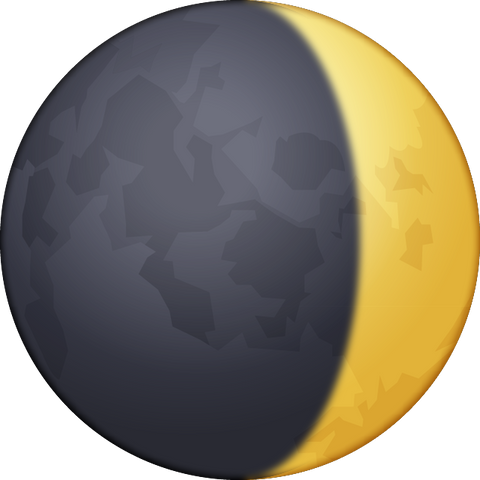 Download Waxing Crescent Moon Emoji PNG