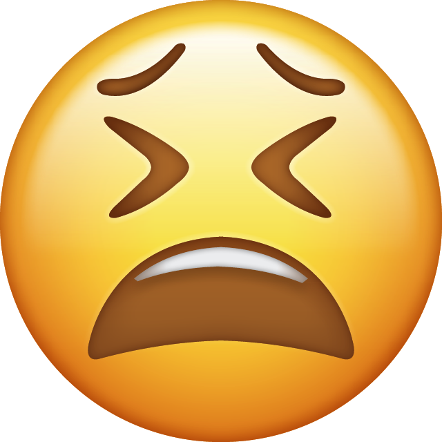 Download Weary Iphone Emoji Image