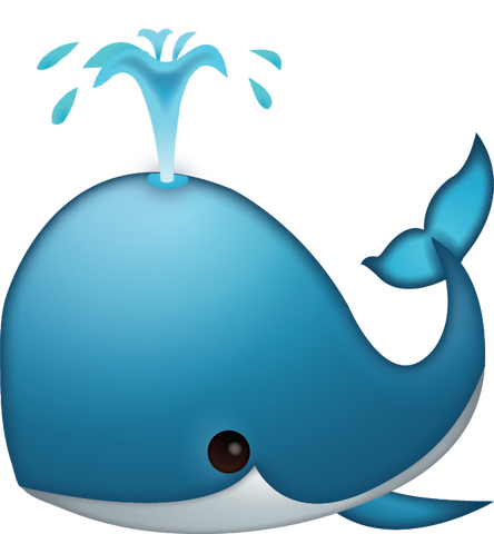 Download Whale Spouting Iphone Emoji Icon in JPG and AI