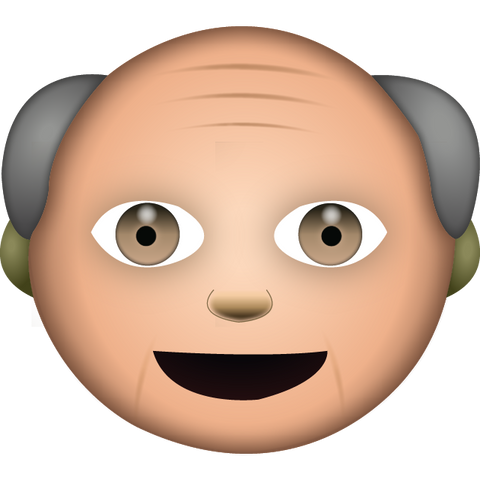 download white grandpa emoji Icon