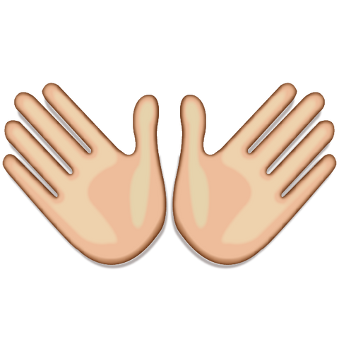 Download White Open Hands Sign Emoji Icon