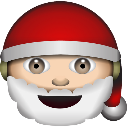 download white santa claus emoji Icon