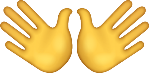 Download Wide Open Hands Sign Iphone Emoji Icon in JPG and AI