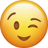 Download Wink Iphone Emoji Image