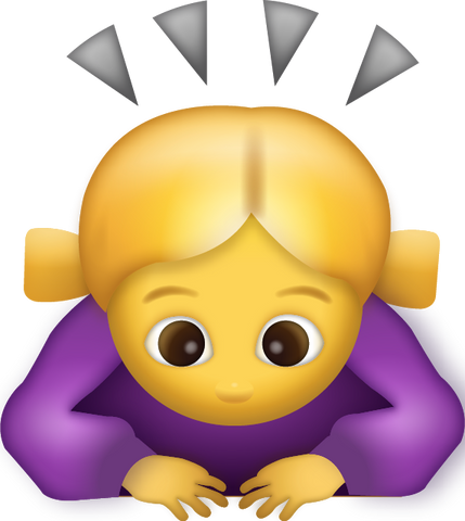 Download Woman Bowing Iphone Emoji Icon in JPG and AI