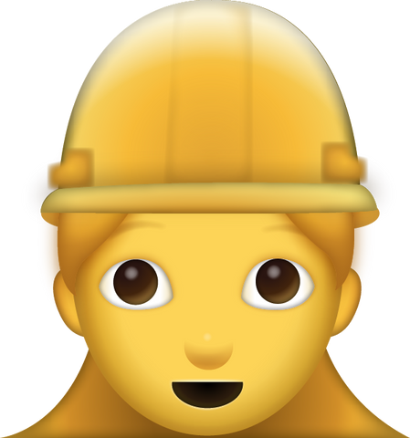 Girl Construction Worker Emoji [Download Apple Emoji in PNG]