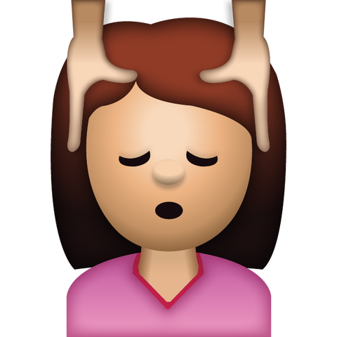 download woman face massage emoji Icon