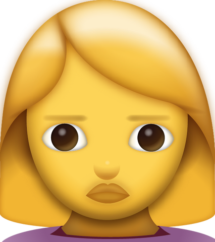 Woman Frowning Emoji [Download iPhone Emoji]