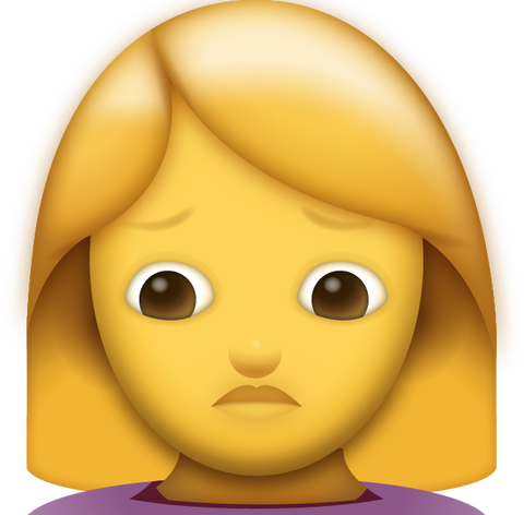 Woman Pouting Emoji [Download iPhone Emoji]