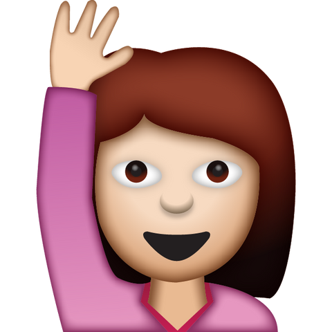 download woman saying hello emoji Icon