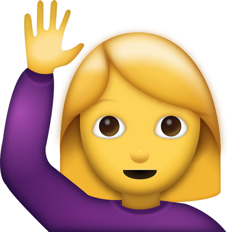 Woman Saying Hi Emoji [Download iPhone Emoji]