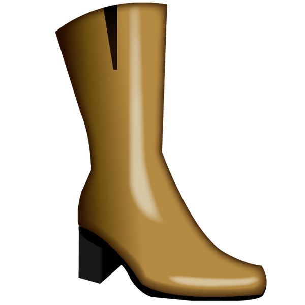 download womans boots emoji icon