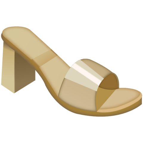 Download Womans Sandal Emoji Icon
