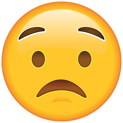 download worried face emoji icon