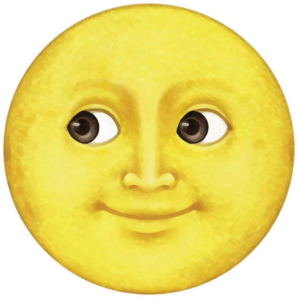 yellow moon emoji -#main