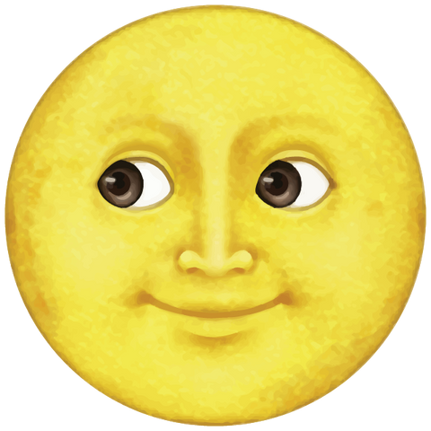 download yellow moon emoji Icon