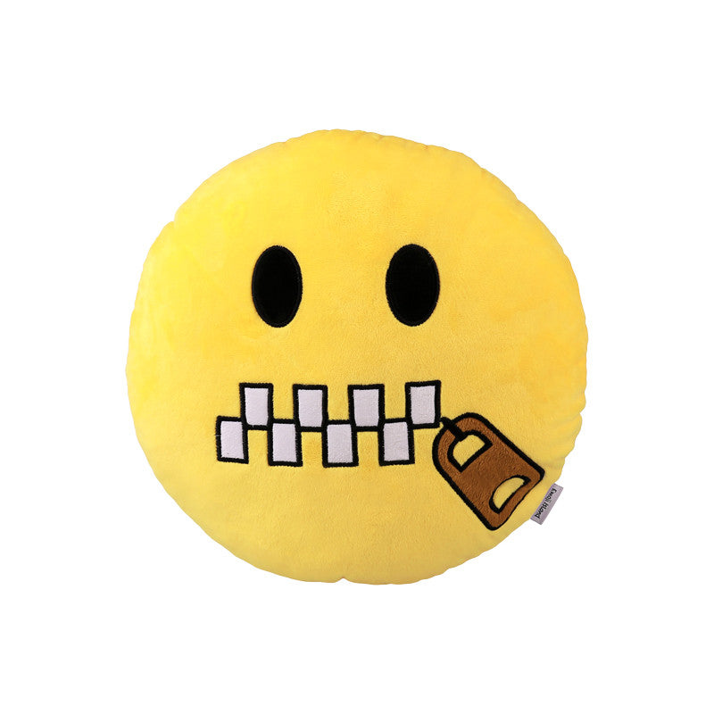 Zipper Mouth Emoji Pillow - New Cushion Pillows