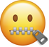 Download Zipper Mouth Iphone Emoji Image