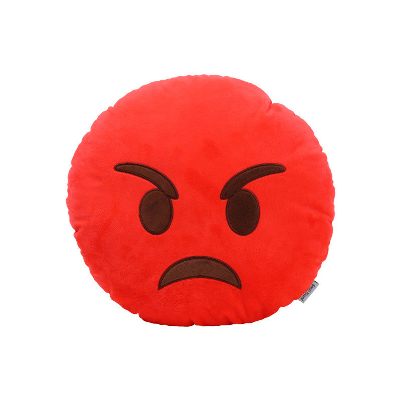 Angry Emoji Pillow by Emoji Island