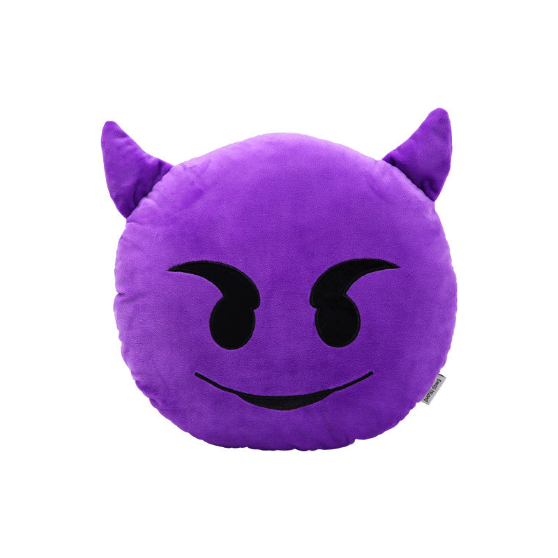 Devil Emoji Pillow by Emoji Island - Cushions Pillows